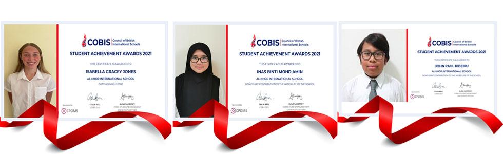 COBIS Student Achievement Award Winners 2021